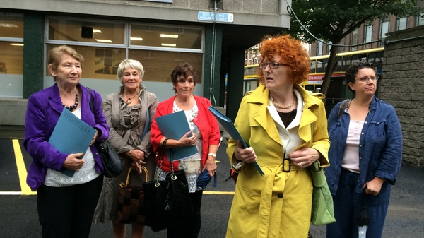 Symphysiotomy survivors outside the Department of Health