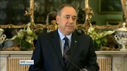 Six One News: Alex Salmond resigns Scottish No vote