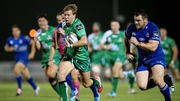 Kieran Marmion races past Cian Healy to score the game's only try