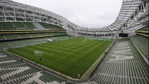 Four Euro2020 games will be played at Aviva Stadium in Dublin
