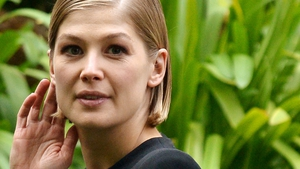 Rosamund Pike pictured at a Gone Girl photo call in Rome on September 12