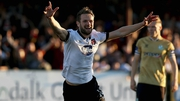 Dane Massey of Dundalk celebrates scoring his side's third goal