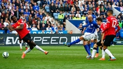Esteban Cambiasso smashes home for Leicester City to make it 3-3