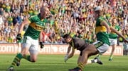 Kieran Donaghy celebrates scoring Kerry's second goal