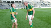 Kerry's James O'Donoghue and Kieran Donaghy share a joke after the game