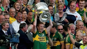 Colm Cooper holds aloft the Sam Maguire but he didn't get any game time for the Kingdom in 2013