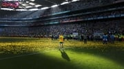 Donegal's Karl Lacey returns to the dressing room after the game
