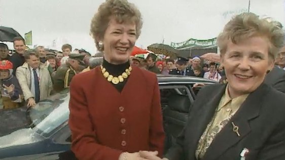 Mary Robinson and Anna May McHugh