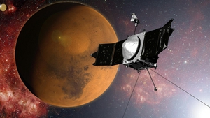 The MAVEN spacecraft had a ten-month journey to reach Mars (Pic: NASA)