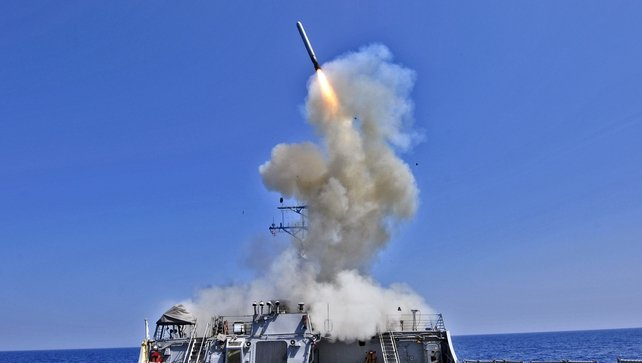 US forces undertaking military action against Islamic State terrorists in Syria using a mix of fighter, bomber and Tomahawk Missiles