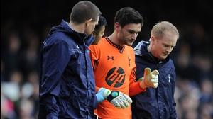 Spurs' Hugo Lloris returned to the field against Everton last season despite suffering a concussion