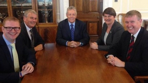 Peter Robinson announced the ministerial reshuffle on Twitter (Pic: @DUPleader)