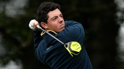 Rory McIlroy test drives a new club at Gleneagles