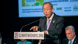 Ban Ki-moon called on countries to build momentum for a global climate deal next year