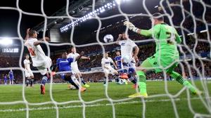 Chelsea's Kurt Zouma opened the scoring on his debut