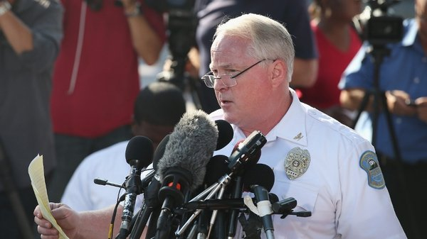 Ferguson Police Chief Thomas Jackson, seen here in August, made his apology today in an online video