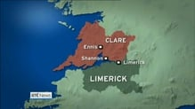Three men struck by car in Co Clare incident