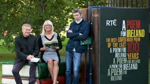 Niall MacMonagle, Anne Doyle and John Kelly at the launch of A Poem for Ireland