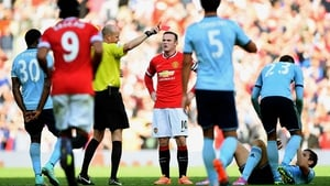 Wayne Rooney received his marching orders at Old Trafford on Saturday