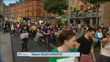 Thousands march in Dublin calling for the repeal of the 8th Amendment