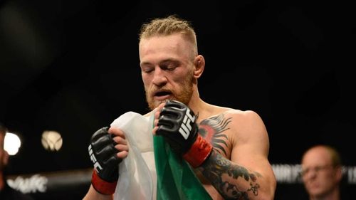 Conor McGregor said he had brought his whole country with him