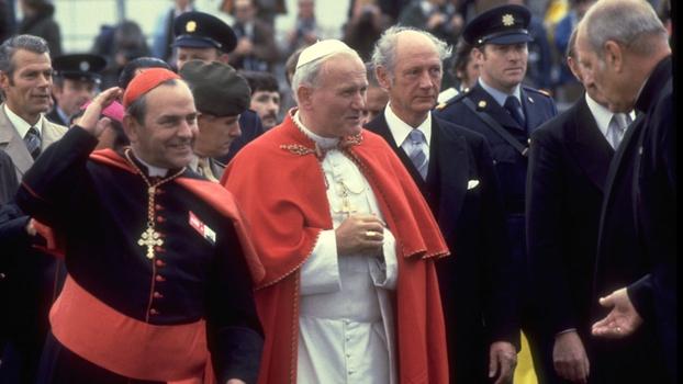 Pope John Paul II, Jack Lynch and Cardinal Tomás O Fiaich
