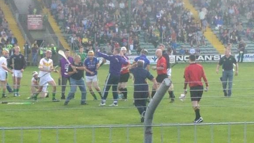 Paul Galvin was confronted by a man during a game in the Kerry Hurling Championship final