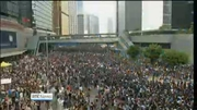 Nine News: Second day of protests as thousands take to the streets of Hong Kong