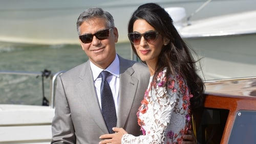 The lovebirds: George and Amal