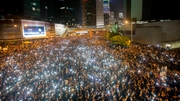 Organisers say as many as 80,000 people gathered on the streets after the protests began on Friday night