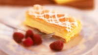 Vanilla custard slice  - A delightful afternoon treat!