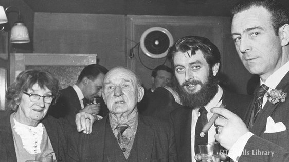 Kathleen and Stephen Behan, with Ronnie Drew. But who is the man on the right?