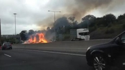RTÉ News: Truck fire causes delays on M50