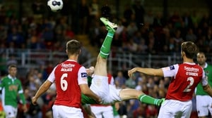 Cork City's Colin Healy scored a stunner against St Patrick's Athletic
