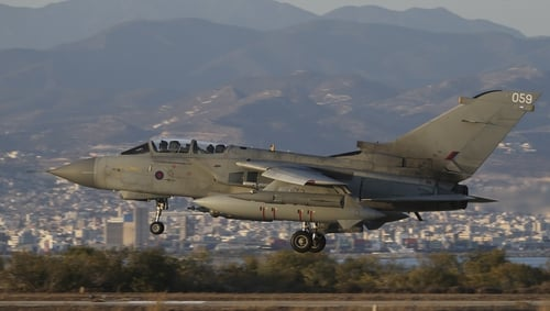 Tornado jets destroyed an IS heavy weapons post and a machine gun-mounted vehicle
