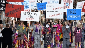 Cara Delevingne lead the march at Paris Fashion Week