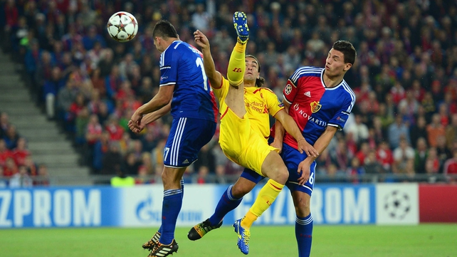 Liverpool fall to defeat in Basel