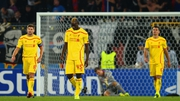 A dejected Steven Gerrard and Mario Balotelli after Basel took lead against Liverpool