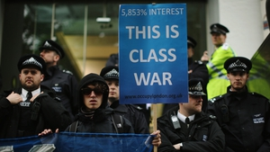 'Occupy' protesters demonstrate against British payday loan company 'Wonga'