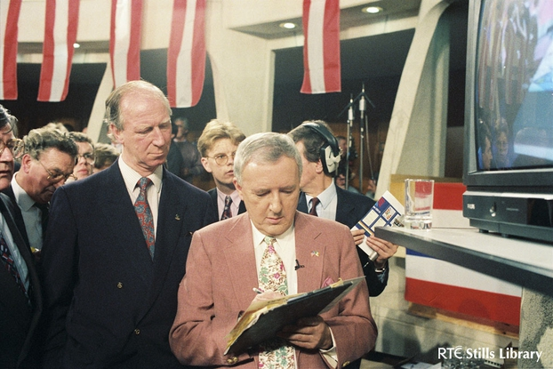 Jack Charlton and Bill O'Herlihy at World Cup draw (1993)