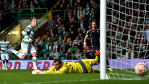 Kris Commons scores the game's only goal for Celtic