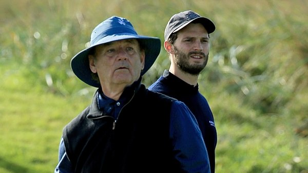Golfers Bill Murray and Jamie Dornan