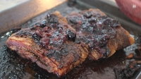 Damson Glazed Pork Belly - Try Colleen O'Hara from Cloughjordan House's recipe for gorgeous spiced pork belly, glazed with sweet damson jam.