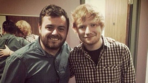 Laurence and Ed backstage at the 3Arena