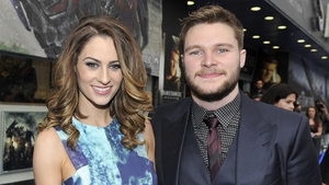 Madeline Mulqueen and Jack Reynor clean up litter in Wicklow