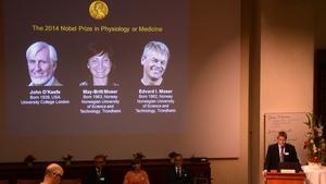 The announcement was made at Sweden's Karolinska Institute