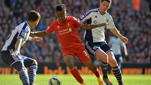 Raheem Sterling had an assist in Liverpool's 2-1 win over West Brom on Saturday