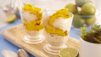 Ivan's Coconut and Lime Ice Cream with Mango in Mint Syrup - Ah summer!