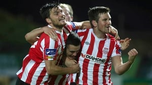 Derry City will play St Patrick's Athletic in the final on 2 November