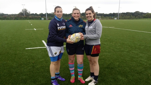 Members of the University of Limerick Women's Rugby Team